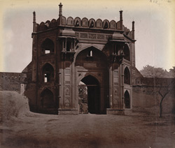 View of gateway to the Caravanserai, Nurmahal
